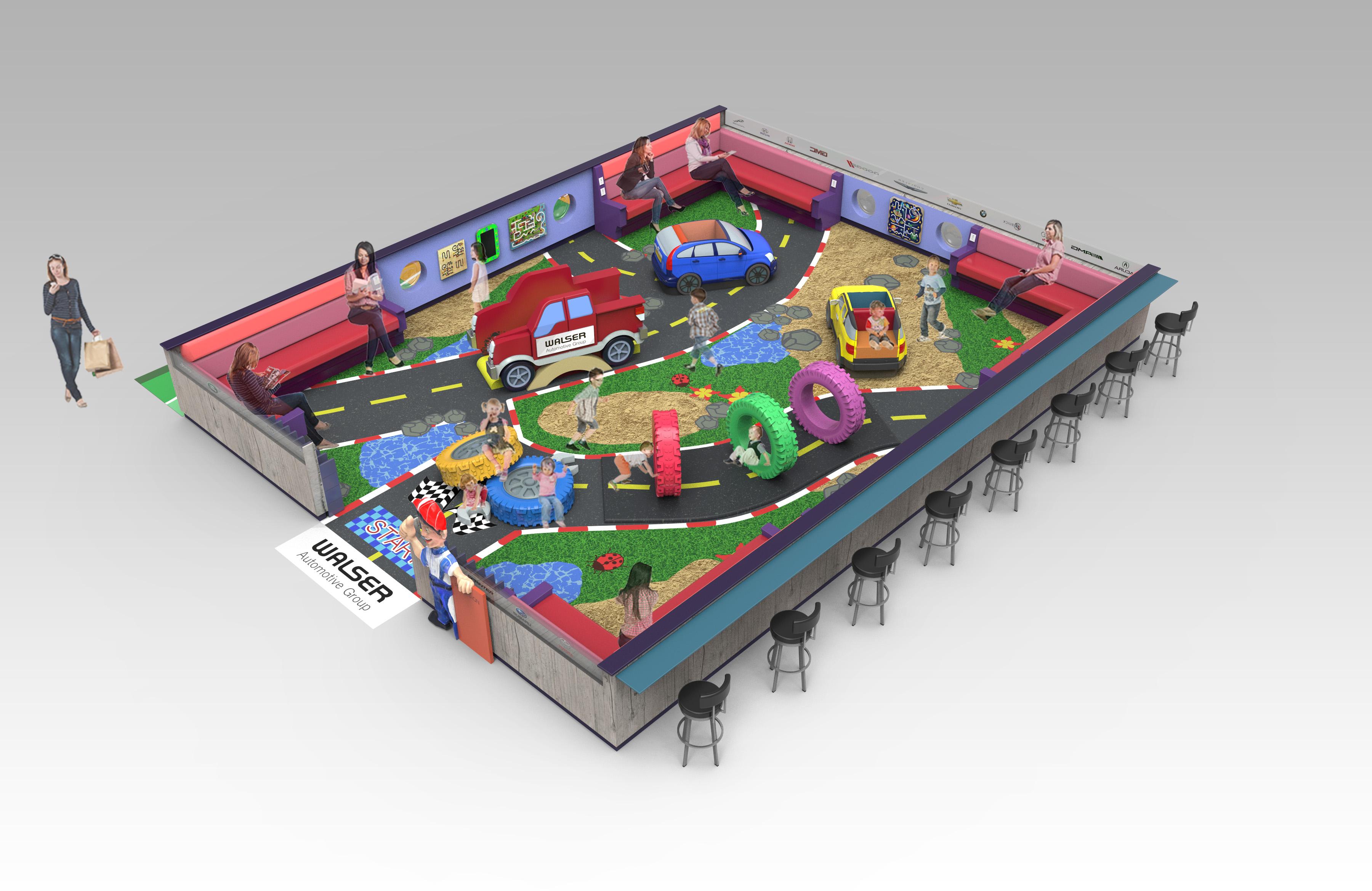 Burnsville Center Play Area 3d Render