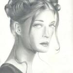 Aishwariya Pencil Portrait